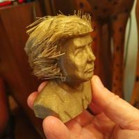 Small Portrait bust of Donald Trump 3D Printing 20445