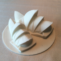 Small Sydney Opera House 3D Printing 2051
