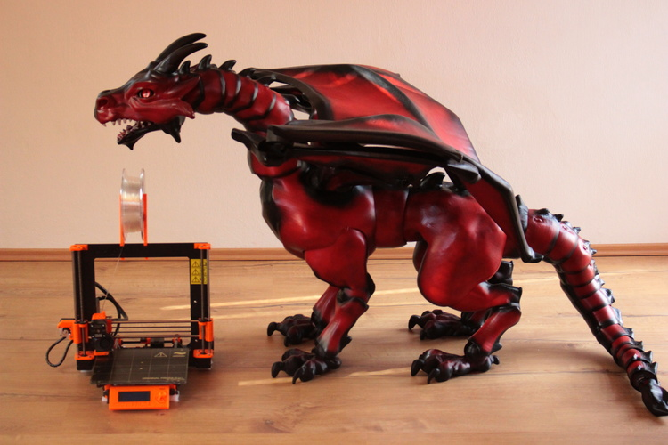 """Braq""  jointed dragon 3D Print 20633"