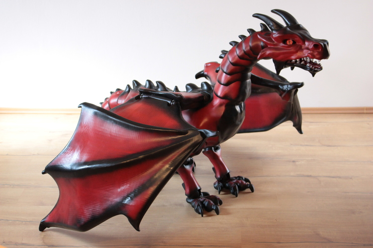 """Braq""  jointed dragon 3D Print 20636"