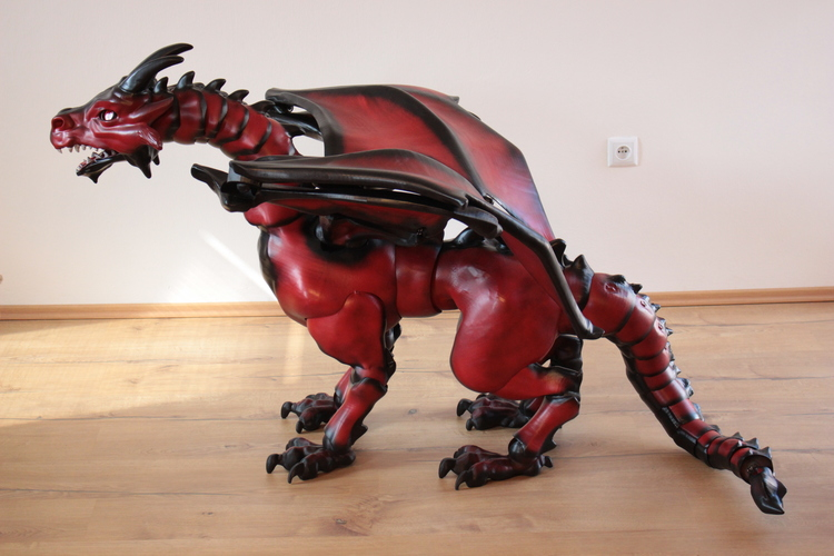 """Braq""  jointed dragon 3D Print 20640"