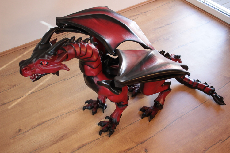 """Braq""  jointed dragon 3D Print 20641"
