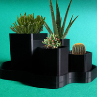 Small Hex Planter 3D Printing 20649