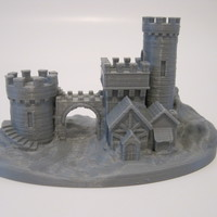 Small Castle Gate 2 3D Printing 20702