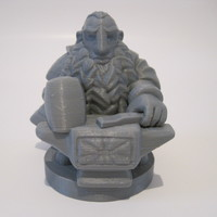 Small Dwarfclan Forgemaster (18mm scale) 3D Printing 20708