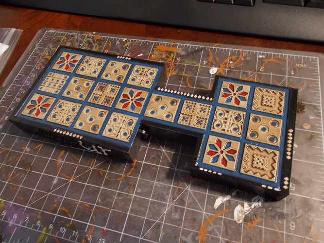 Royal Game of Ur with Print-in-place hinged board 3D Print 20717