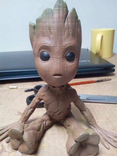 baby groot with base 3D Print 20726