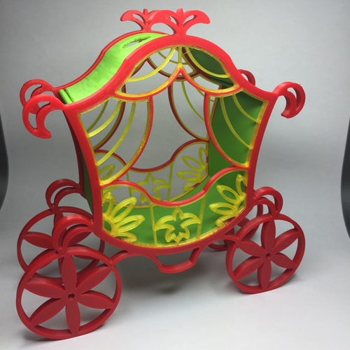 The carriage for Cinderella. 3D Print 20946