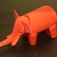Small Elephant 3D Printing 20990