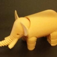 Small Elephant 3D Printing 20991