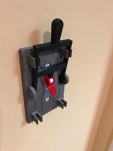 Reprint of Frankenstein Light Switch Plate from LoboCNC 3D Print 21013