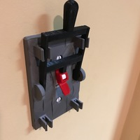 Small Reprint of Frankenstein Light Switch Plate from LoboCNC 3D Printing 21013