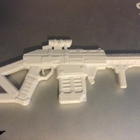 Small Submachinegun 3D Printing 21014