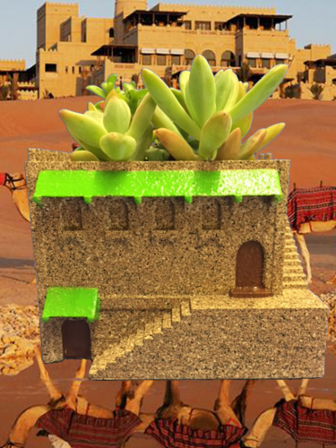 Mini Middle Eastern Villa Planter 3D Print 21024