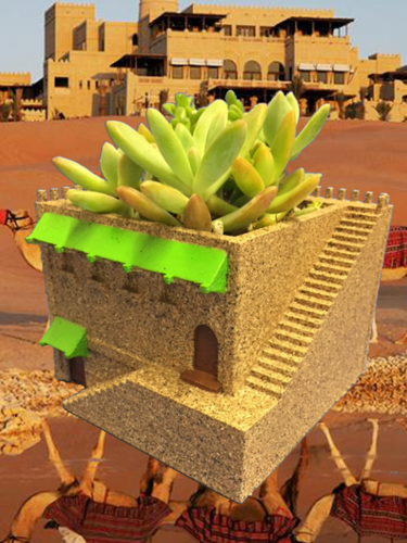 Mini Middle Eastern Villa Planter 3D Print 21025