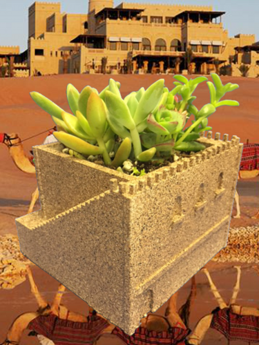 Mini Middle Eastern Villa Planter 3D Print 21026