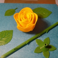 Small Rose two-piece 3D Printing 21186