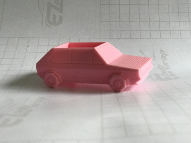 Volkswagen Golf GTI - Low Poly Planter 3D Print 21189