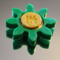 Small Gear/Flower Spinner 3D Printing 21192