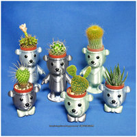 Small BEAR BRAVO Potted plants 3D Printing 21260