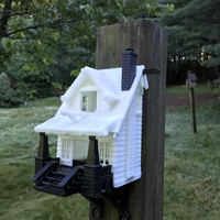 Small the American Craftsman Bungalow Birdhouse 3D Printing 21359