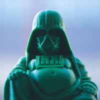 Small Darth Vader Buddha with saber 3D Printing 21438