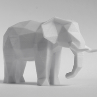 Small Low Poly Elephant Art Sculpture 3D Printing 215