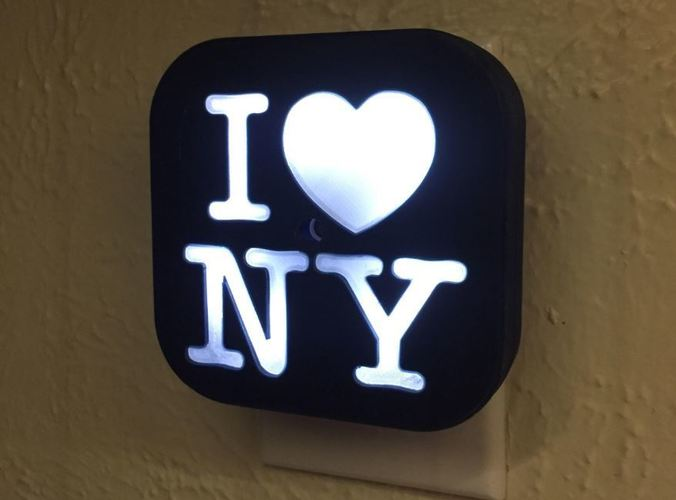 DIY Night Light I Love NY 3D Print 21552