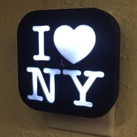 Small DIY Night Light I Love NY 3D Printing 21552
