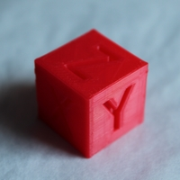Small XYZ 20mm Calibration Cube 3D Printing 21594