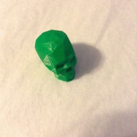 Small Low Poly Skull (1) 3D Printing 21628