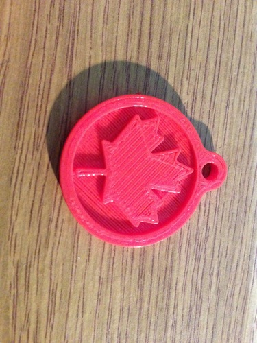 3D printed key chain-Maple leaf 3D Print 21751