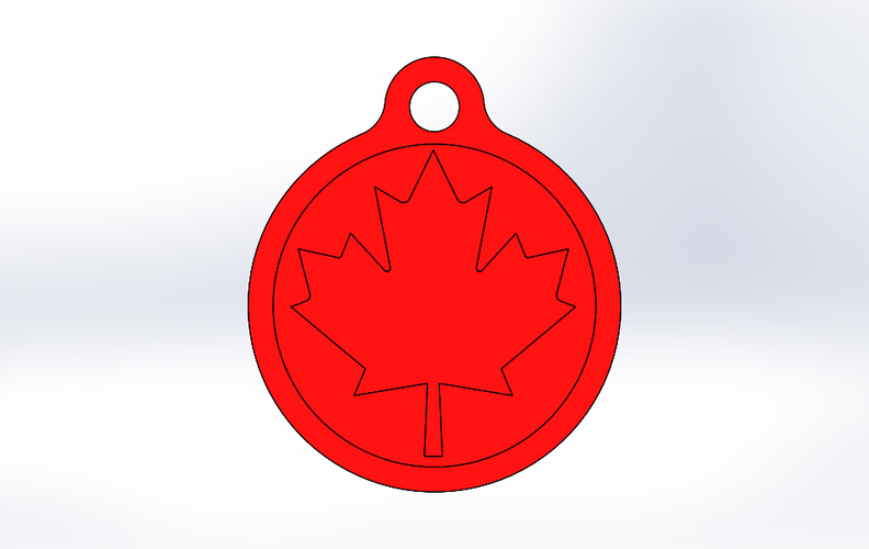 3D printed key chain-Maple leaf 3D Print 21752