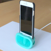 Small iPhone 6 and above  Passive Amplified Dock and Stand 3D Printing 21776