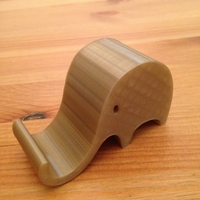 Small Phone holder elephant 3D Printing 21791