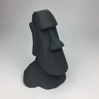 Small Low Poly Moai 3D Printing 21857