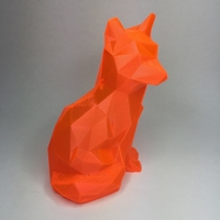 Small Low Poly Fox 3D Printing 21889