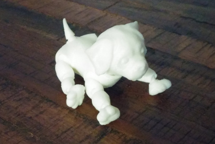 3d Jointed Puppy Dog Lying Down 3D Print 21895
