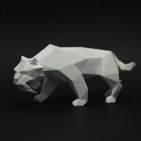 Small Low Poly Saber Toothed Tiger 3D Printing 220