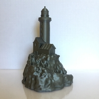 Small Lighthouse on a rock. 3D Printing 22039