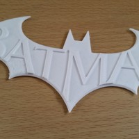 Small Batman Arkham City Logo V1 3D Printing 2204