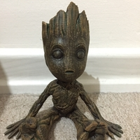 Small baby groot with base 3D Printing 22042
