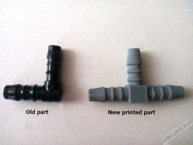 Chevrolet Daewoo air T joint replacement part 3D Print 2218