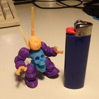 Small SkullBot 001 - via 3DKToys 3D Printing 22185