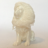 Small lion with hair 3D Printing 22210