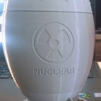Small Nuclear bomb 3D Printing 22275
