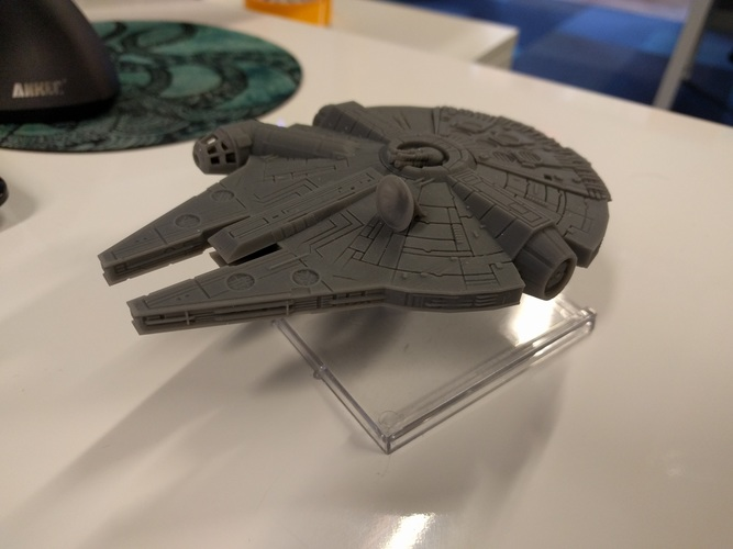 Millenium Falcon with hole for mounting peg/X-Wing: TMG stand 3D Print 22454