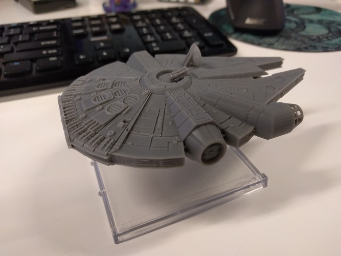 Millenium Falcon with hole for mounting peg/X-Wing: TMG stand 3D Print 22455