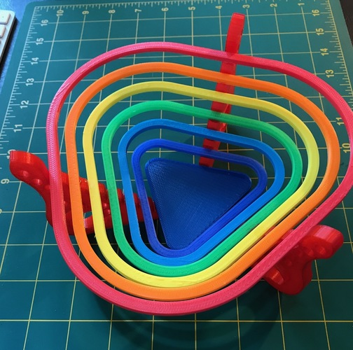 "Bowl for sweets ""rainbow"" 3D Print 22488"