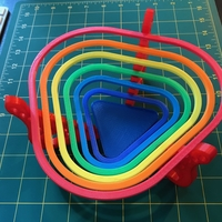 "Small Bowl for sweets ""rainbow"" 3D Printing 22488"